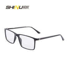 New Brand Eye glasses frames for women Retro Big Square Glasses Frame men Optical Glasses Frame Fashion Clear Glass 9195(China)