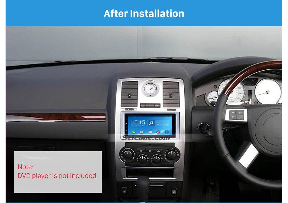 Car Radio Stereo Double Din Dash Kit Trim Panel for 2005-2007 Chrysler 300