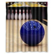Nanaz Custom Personalized Bowling Ball Shower Curtain 60 x 72