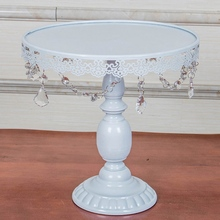 Cake Stand White Wedding Birthday Fruits Plate Dessert Rack Cupcake Holder Artificial Diamond Cake Decorating Tools
