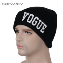 Winter Hats Unisex Letter VOGUE Pattern Warm Soft Women's Skullies Beanies Knitted Caps for Men Popular in Europe and America(China)