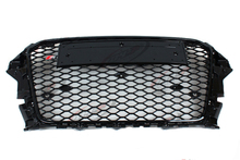 RS3 Style Black Front Middle Grill Grille For Audi A3 S3 RS3 2014-2016