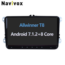 Navivox Octa Core 9inch Android 7.1.2 Car GPS Navigation Stereo Audio Player For VW skoda seat polo golf passat jette no dvd(China)