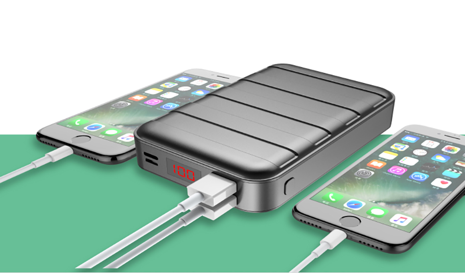 Power Bank 000mAh USAMS LCD Portable PowerBank External Battery Dual USB Charger For Xiaomi iPhone 7 6 6S 5 Mobile Phones Tab 14