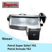 BOQUERON for Nissan Patrol Super Safari Y61 Patrol Armada Y62 HD CCD Waterproof Car Camera reversing backup rear view camera