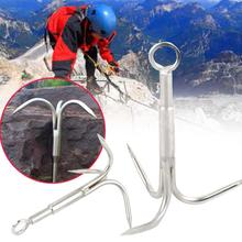 Relefree Forfar Grappling Hook Climbing Claw Carabiner Mountaineering Survival Escape Sports(China)