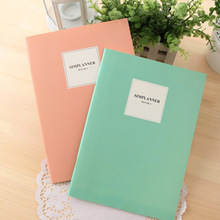 factory sale fashion 3099 mini Notepad fresh fashion and simple diary large diary notebook 257*185mm 2pcs/lot random color