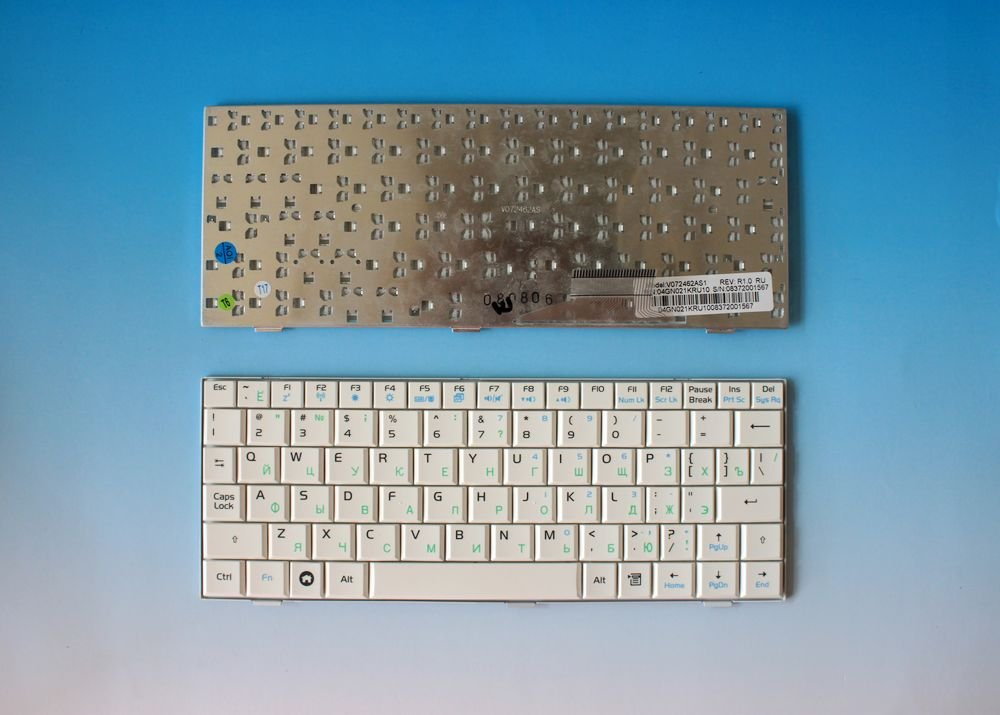 Free shipping Brand new laptop keyboards for ASUS EEEPC EPC 700 701 900 901 900HD Russian white(China (Mainland))