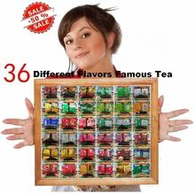 36 Different Flavors Famous  Chinese Tea including Oolong Puer Black Green  180g.The second option is the tea pot