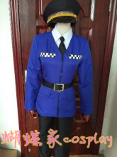 APH axis Powers Hetalia England Pink police Arthur Kirkland Cosplay Costume with hat