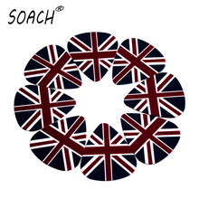 SOACH 10pcs 0.71mm The British flag  high quality two side earrings pick DIY design guitar accessries pick guitar picks