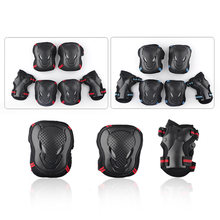 Adult / Child Ice-skating Knee Pads Elbow Pads Wrist Guards Protective Gear Set For Outdoor Activities Elbow Pads FK88(China)