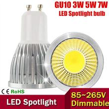 GU10 LED Dimmable E27 E14 MR16 LED Bulb 3W 5W 7W LED lamp light GU10 COB led Spotlight Warm/Cold White Free shipping(China)