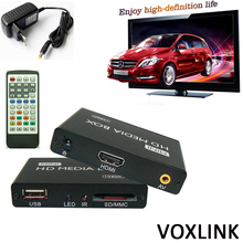 50PCS VOXLINK 1080P Mini HDD Media Player MKV/H.264/RMVB SD/USB/SDHC/MMC HDD-HDMI HDD Multimedia Player_DHL