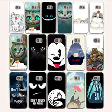 12af Cat Totoro cute lovely Hard Transparent Case Cover for Samsung Galaxy S3 S4 S5 Mini S6 S7 S8 Edge Plus Case