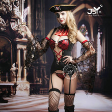 9738 High Quality Caribbean Pirate Costumes for Women Lady's Erotic Sexy Lingerie Pirate Cosplay Sexy Halloween Costumes