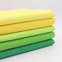 5PCS Fat Quarter Dot cotton fabric Peas cloth sewing tilda fabrics patchwork cotton tissue home textile woven telas tecido(China)