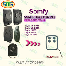 2pcs SOMFY Keytis NS 2 RTS, Somfy Keytis 4 NS RTS compatible 433mhz rolling code remote control free shipping(China)