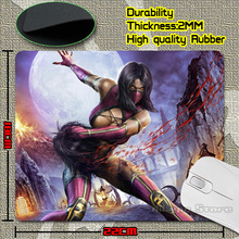 New Arrival Hot Selling Mortal Kombat Cool Games Durable Rectangle Gaming Mousemat for Optical Trackball Laser Mouse