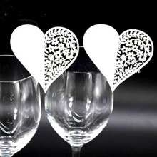 Buy 50pcs/set Wedding Table Decoration Place Cards/Wedding Party Decoration Laser Cut Heart Floral Wine Glass Place Cards for $2.89 in AliExpress store