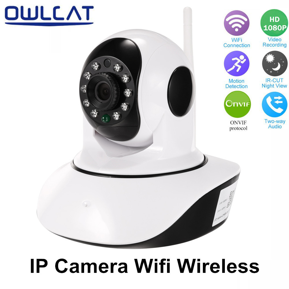 OwlCat HD 1080P 960P IP Camera WiFi Wireless Security Camera Audio Record Surveillance Network CCTV Camera Micro SD Card slot<br>