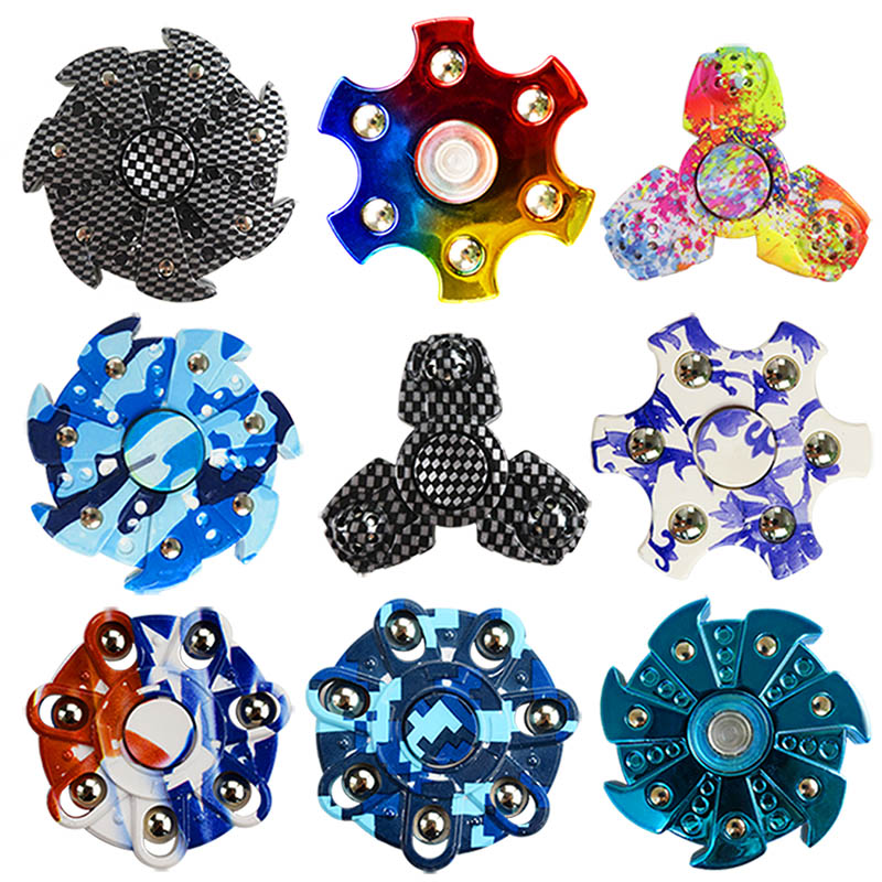2017 New Multi-style Finger Hand Spinner ABS Spinner Autism ADHD Rotation Time Long Anti Stress Fidget Toys Children
