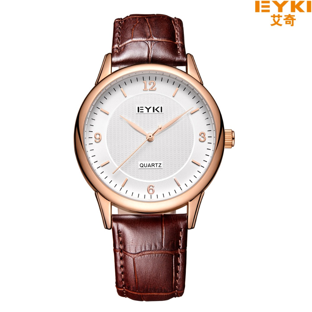 EYKI Lovers Couples Watch Luxury Brand Waterproof Wristwatch Quartz Men Women Leather Watch relogio feminino <br>