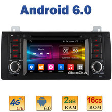 "7"" Quad Core 2GB RAM 4G LTE SIM WIFI Android 6.0 Car DVD Multimedia Player Radio For BMW 5 Series E39 X5 E53 M5 Range Rover DAB+"