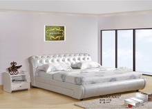 diamond tufted contemporary modern leather bed King size bedroom furniture Made in China