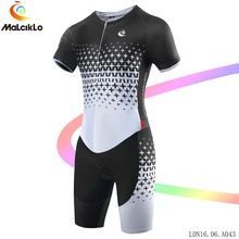 Malciklo Cycling Set 2017 Bicycle Jumpsuit men Elasticity fabric Fit Short Sleeve Racing Biking Jersey Coverall