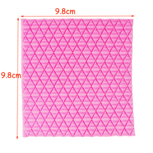 M481 Silicone Mold DIY Needle knitting wool texture lace Fondant Cake tools Decorating Polymer Clay Resin Candy Fimo 10*10*0.4CM