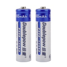 2pcs/Set Doublepow AA Number 1200MAH Large Capacity Battery 1.2V Ni-CD Rechargeable Replacement Battery(China)