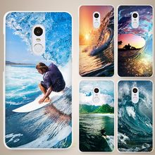 surf wave sea Hard White Cell Phone Case Cover for Xiaomi Mi Redmi Note 4 Pro 4A 4C 4X 5X 5 6