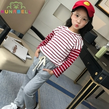Costume for Girls Spring Kids Brand Sport Suit Children's Tracksuits Long Sleeve T-shirt + Pant Clothes Set Top Wear Grils L328