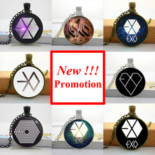 Buy NS-00447 New Fashion Star EXO Pendant Necklace EXO Jewelry Gifts Fans Glass Photo Pendant Necklace HZ1 for $1.13 in AliExpress store