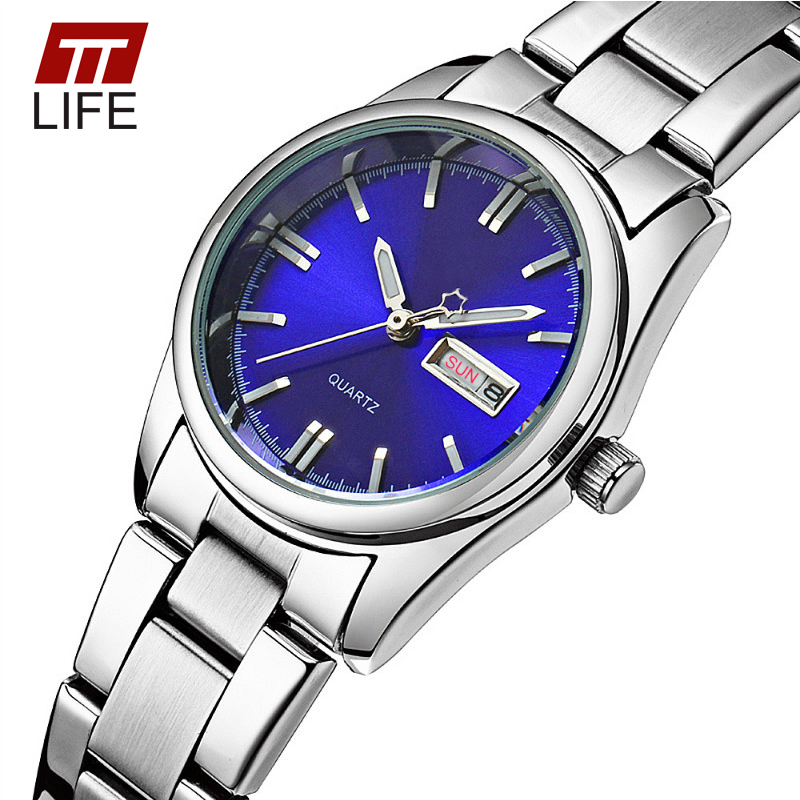 TTLIFE Brand Date Week Analog Quartz Watch Female Luxury Luminous Watches Womens Full Steel Business Casual Wrist Watches Women<br><br>Aliexpress