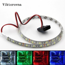 led Strip Background Light 5050 12V waterproof blue red green white ribbon for PC computer LED Flexible Strip Background Light(China)