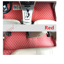 For Toyota Land Cruiser J200 2008-2010 Accessories Interior Leather Carpets Cover Car Foot Mat Floor Pad 1set