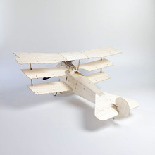 MininimumRC Plane Laser Cut Balsa Wood Airplane  Kit Fokker DR.1 Frame without Cover Free Shipping Model Building Kit