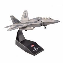 kids toys 1/100 Aircraft Airplane Model USA 2005 lockheed Martin Raptor Fighter Air Force Diecast Aircraft Plane Toy(China)