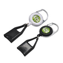 Lighter Leash Safe Stash Clip Retractable Keychain Smile Face Lighter Holder,Color and Pattern Send Randomly!!!(China)