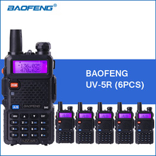 6pcs/lot BAOFENG UV-5R Walkie Talkies Dual Band VHF UHF Portable Walkie Talkie Two-way Ham Radio Transceiver UV5R 2-Way Radios