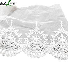1yard White Lace Ribbon Embroidered Net Lace Trim Fabric warp knitting For Wedding Decoration Lace By Best Price LQW1623