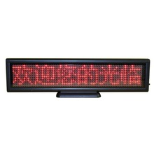 12x3inch Scrolling Electronic Led Sign Display Board,Rechargeable Usb Programmable Advertising led sign(China)