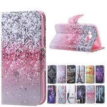 Hot Sales Flowers Magnetic PU Leather Wallet Cover Case For Flip Samsung Galaxy J5 J500H J500M J500F/ j5 2016 j510 j510f case