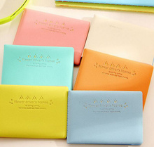 Sweet Flower Candy 6 Colors - 10*7CM PVC Cards Holder BAG Pouch ; Girl's Driving License Driver Cards BAG Pouch Wallet(China)
