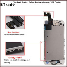 inside+outside main key LCD panel, speaker, small camera, sensor Flex For iphone 5S 5G 5C 5 LCD Replacement Touch Screen