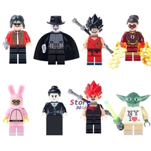 Single Super Hero Antiheroes Michael Jackson  Jesse Quick Dragon Ball Z Goku Rabbit building blocks bricks toy for children