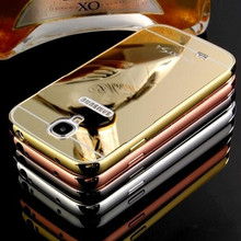 For Samsung Galaxy S3 S4 S5 Case Aluminum Metal + Acrylic Mirror Battery Back Cover Phone Case For Samsung S3(China)