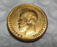 1898 RUSSIA 10 ROUBLE CZAR NICHOLAS II GOLD COIN COPY FREE SHIPPING
